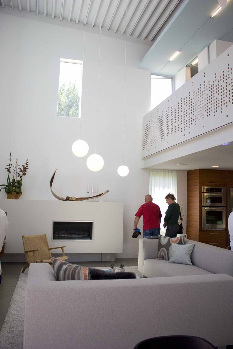 The whole residence is wired and hooked up to a smart home system that allows the home to be controlled from anywhere. Controls are available for temperature, security systems, even turning the fireplace on and off.