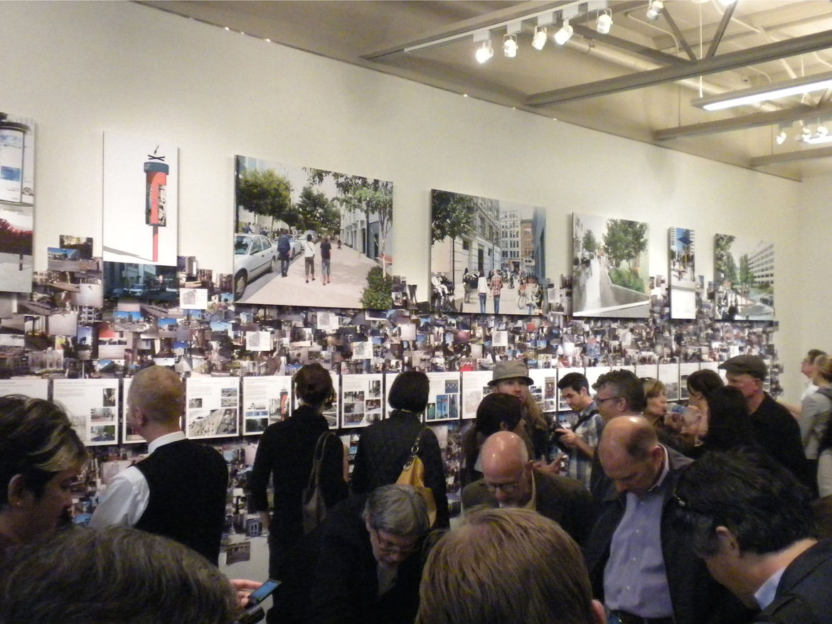 "From now until August 19, the master plan and its proposed projects are being displayed at SPUR as an exhibition titled <a href=""http://www.spur.org/exhibitions""><i>Street Life/Yerba Buena, A Community Design Initiative</i></a>. The gallery space was pack"