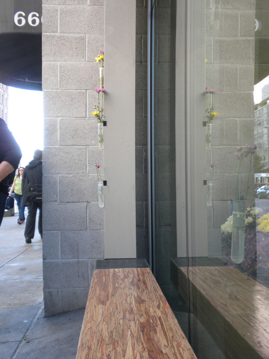 In CMG's research with the Yerba Buena community, lack of seating was sited as a major problem in the district. CMG designed this bench, currently installed in front of SPUR, as one of the many seats to come.