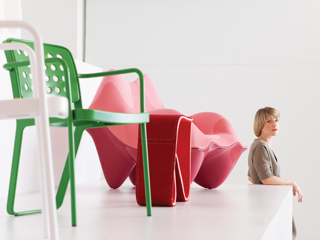 """Curator Zoe Ryan, posing for our <a href=""""http://www.dwell.com/magazine/Young-Americans.html"""">December/January 2011</a> Young Guns feature."""