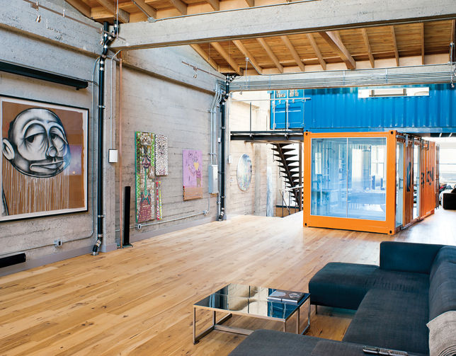 Lastly, check out the Wardell-Sagan apartment from our December/January Prefab issue in 2011. Jeff Wardell collects a lot of large-scale street art and wanted to renovate his loft to preserve as much display space for art as possible.