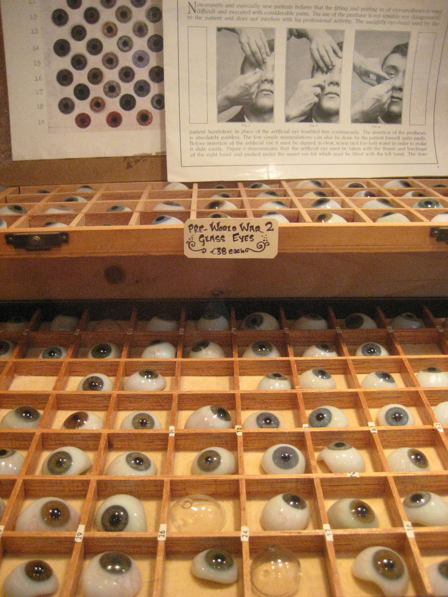 """From the not-something-you-see-everyday files: Pre-WWII glass eyes at the <a href=""""http://www.otherist.com/"""">Otherist</a>."""