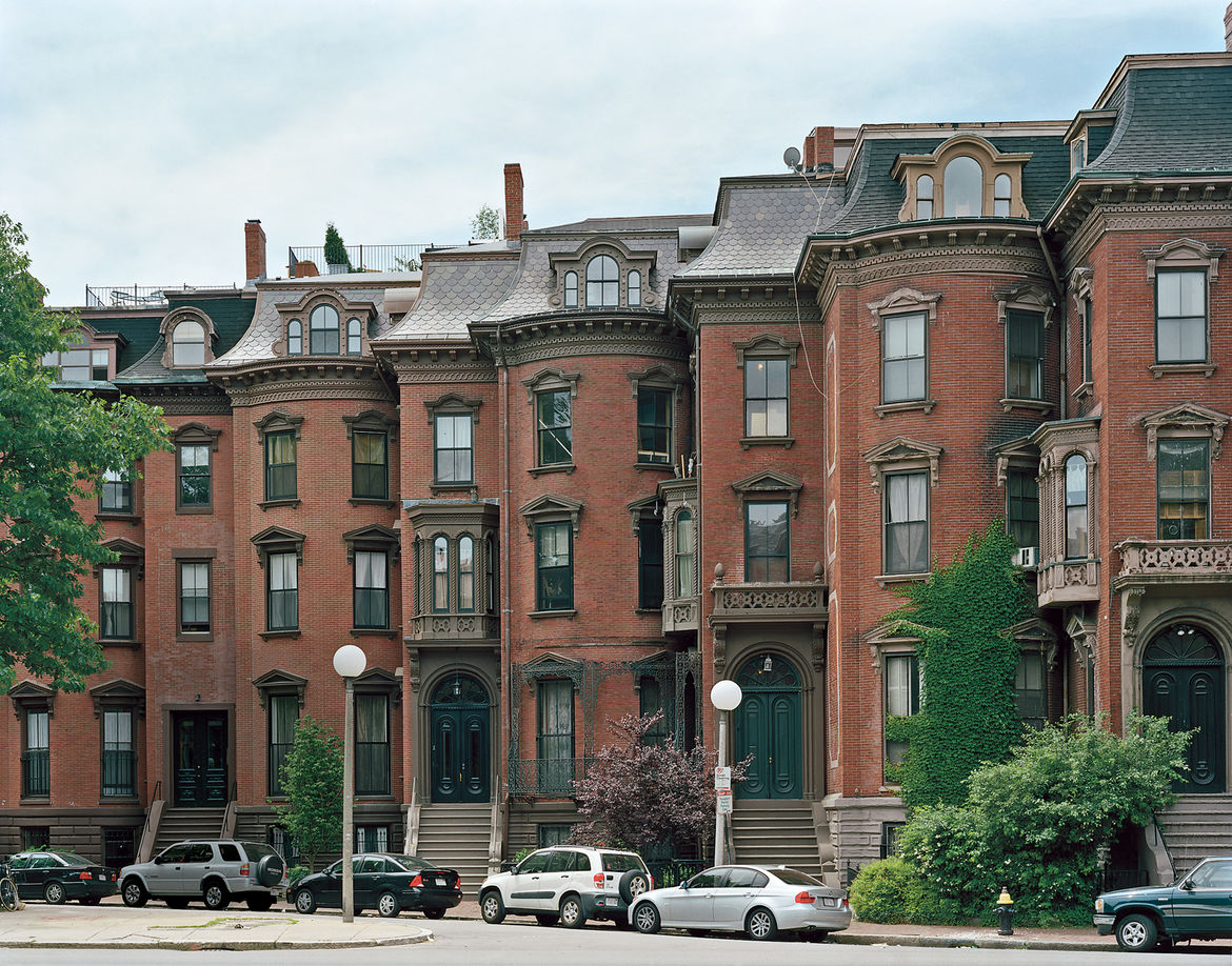 Brick bowfront rowhouses, most constructed in the mid-19th century, are a South End signature.