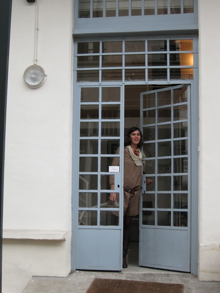 "After a lovely and inspiring visit, Fanny, the Bouroullec's office manager, bids me adieu.<br /><br /><p><em><strong>Don't miss a word of Dwell! Download our </strong></em><a href=""http://itunes.apple.com/us/app/dwell/id411793747?mt=8""><em><strong> FREE a"