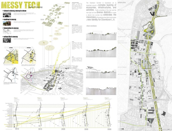 """Student Category First Place Award of $2,000: MessyTECH by Randall Winston, Jennifer Jones, and Renee Pean / University of Virginia School of Architecture. <br /><br /> <br /><br /> Statement from Messytech team:  """"MessyTech recognizes the full life cycle"""