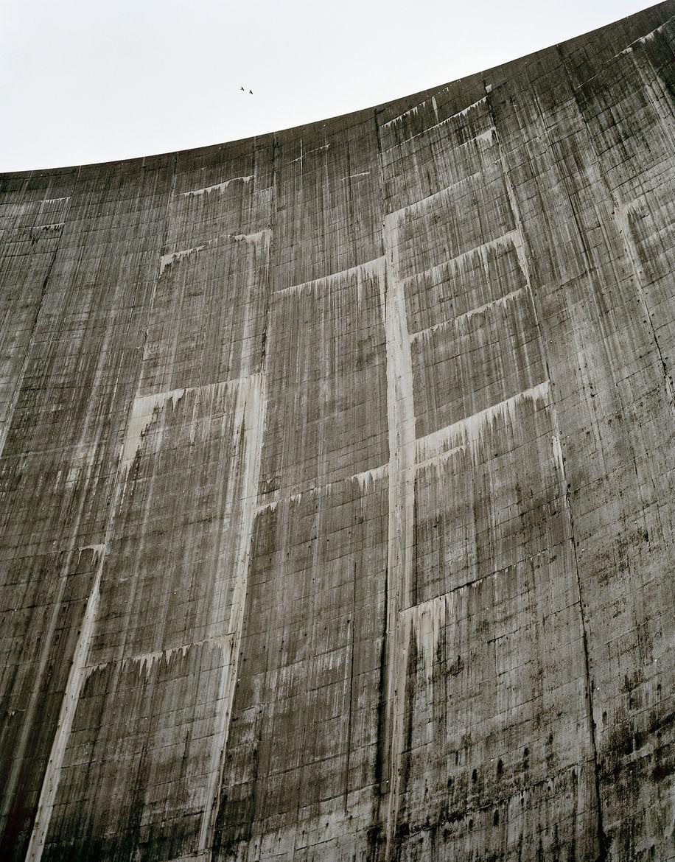 The lower face of Roselend dam