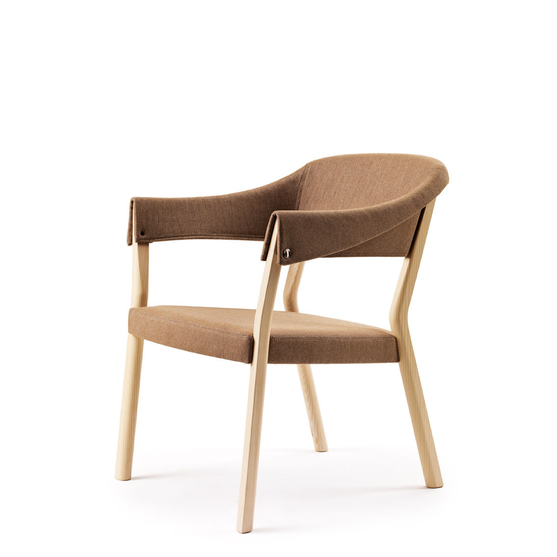Pierre Sindre continues to add slight modifications to his well-received Button chair (2008); this season it reappears in fabric, felt or leather.