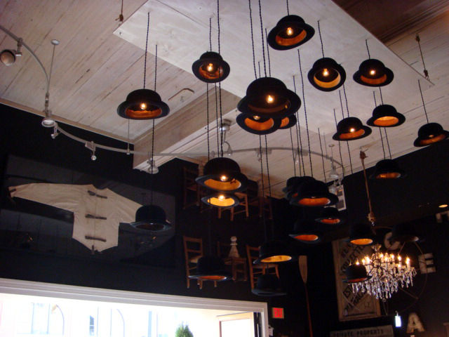 "A Clockwork Orange theme reigned supreme at the <a href=""http://halo-home.com/"">Halo</a> showroom, which is located in what was originally a firehouse."