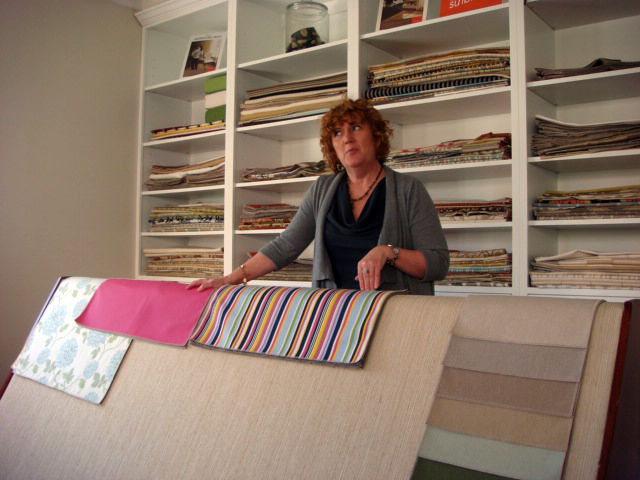 "<a href=""http://www.sunbrella.com/landing/asidinterior/"">Sunbrella</a>, long known for their durable outdoor textiles, is making a name for themselves with fabrics designed for interiors. Gina Wicker introduced a new bright pink color, which took around 5"