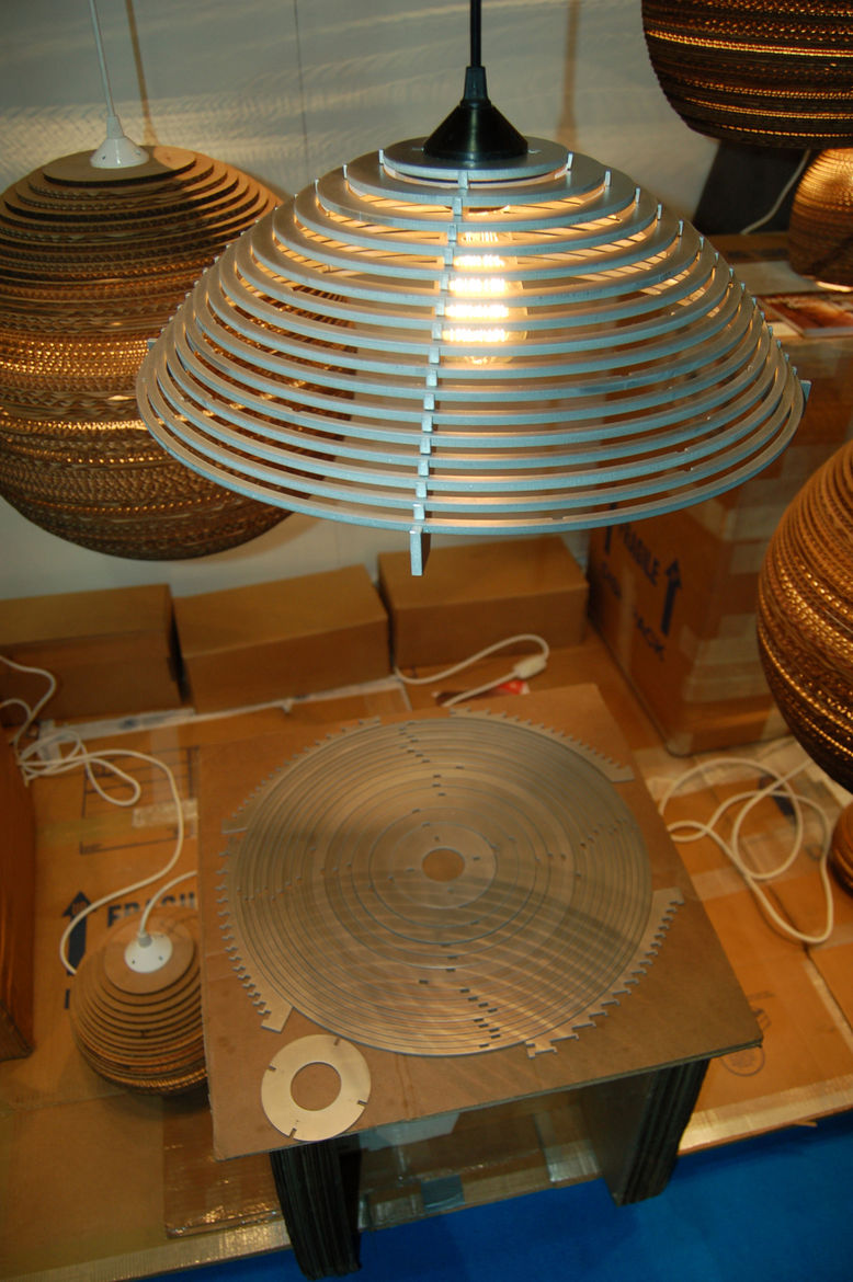 """The fellows at <a href=""""http://www.graypants.com/"""">Graypants</a>, which is based in Seattle, create their Steplights lamps from one single piece of recycled aluminum."""