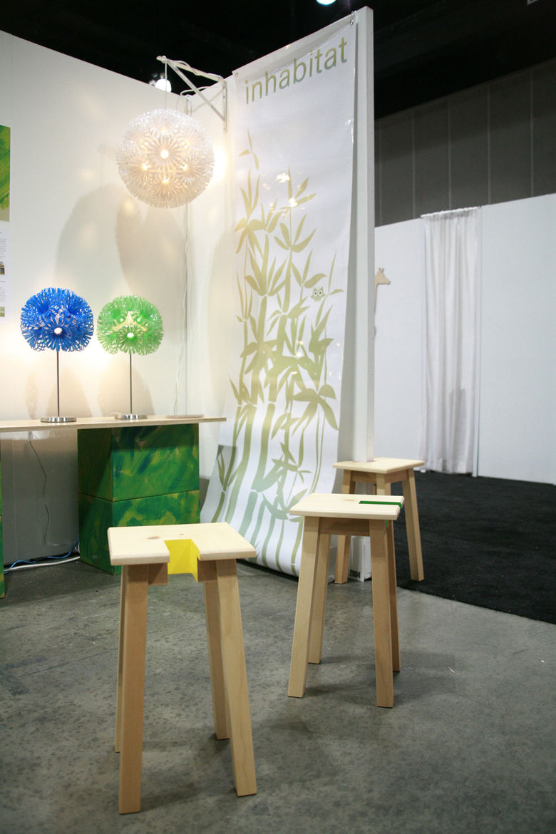 """At the space shared by <a href=""""http://www.do-not-touch.com/"""">Touch</a> and <a href=""""http://inhabitat.com/"""">Inhabitat</a>, the new Open Stool was on display. Check out assistant editor Jordan Kushin's <a href=""""http://www.dwell.com/articles/live-from-the-s"""