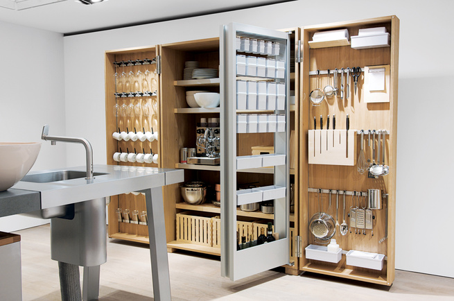 The Tool Cabinet of the b2 system contains everything you would ever need to cook and serve your food.