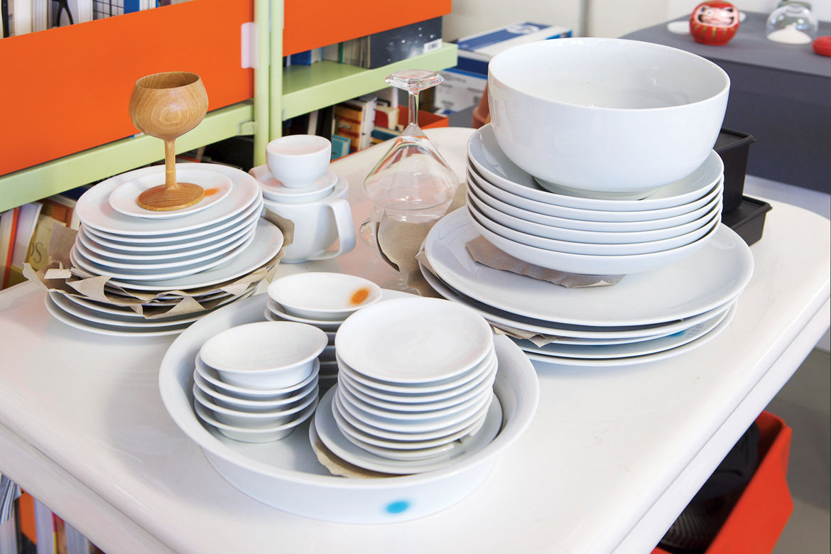Grcic is a very hands-on designer, whose work includes tableware.