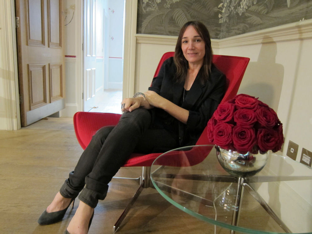 """Next up, I booked it over to the<a href=""""http://www.firmdale.com/index.php?page_id=8"""">Haymarket Hotel</a> to meet up with <a href=""""http://www.monicaforster.se/"""">Monica Förster</a> to discuss her latest work for Bernhart—a """"Scandinavian"""" style chair for p"""