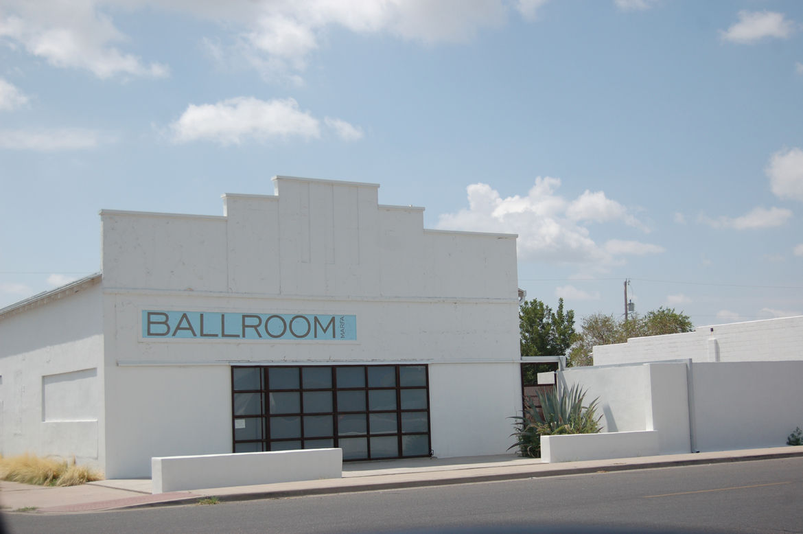 """Marfa offers a wealth of cultural attractions housed within cleverly renovated structures. Here we see the <a href=""""http://www.ballroommarfa.org//"""">Ballroom</a>, a 1927 building converted into an art gallery."""