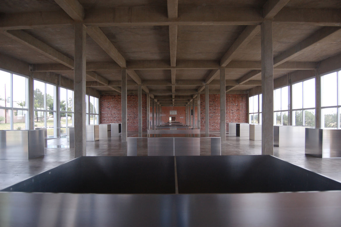 The interior of the artillery shed is a masterwork of symmetry and proportion. Each of the aluminum pieces has the same exterior dimensions (41 x 51 x 72 inches) but each boasts a slightly different configuration.