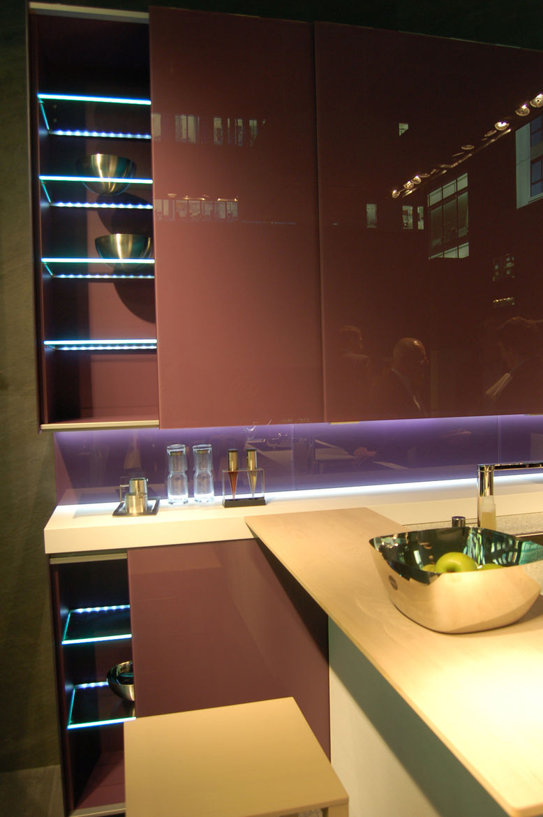 LED accent lights were found everywhere at Eurocucina, lending a Vegas-in-the-kitchen feel to nearly every booth we visited.
