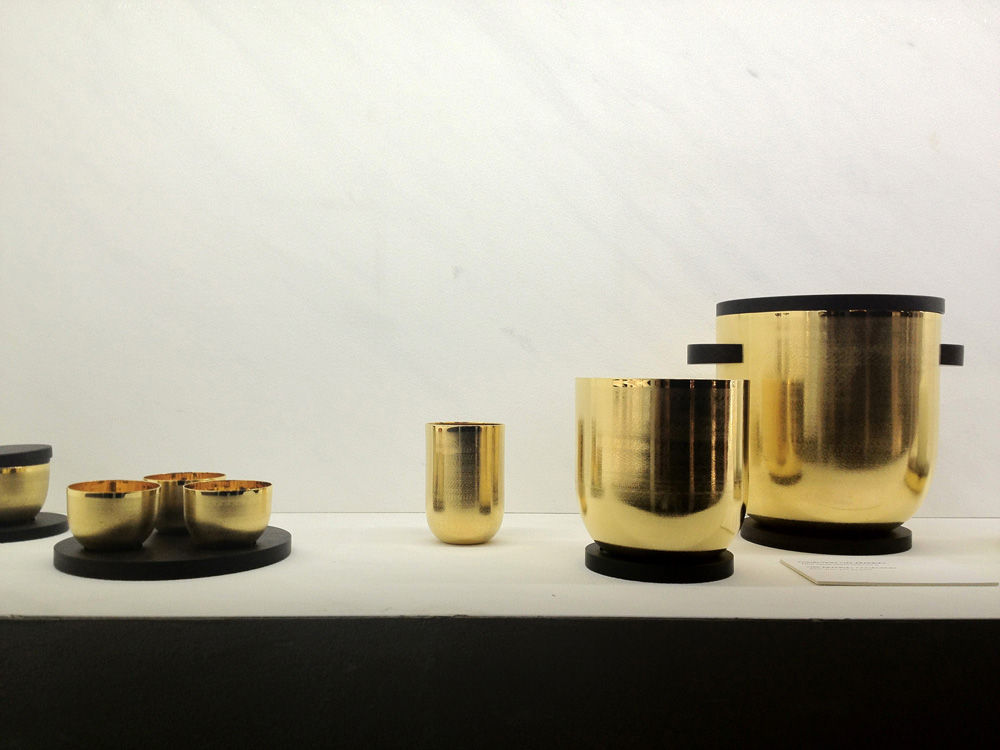 The Art Deco-inspired Jacaranda collection by ceramics company Puiforcat was previously produced in silver; this year, the rosewood base is complemented by a rich bronze.