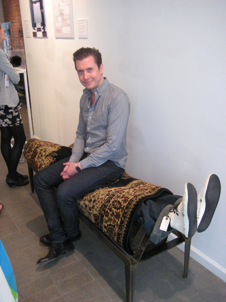 "Kevin Carpet Bench by <a href=""http://subports.com"">Will Robison</a>. There are some folks in this world who find pleasure by being rolled up in a carpet, and there are some who seek it by sitting on them."