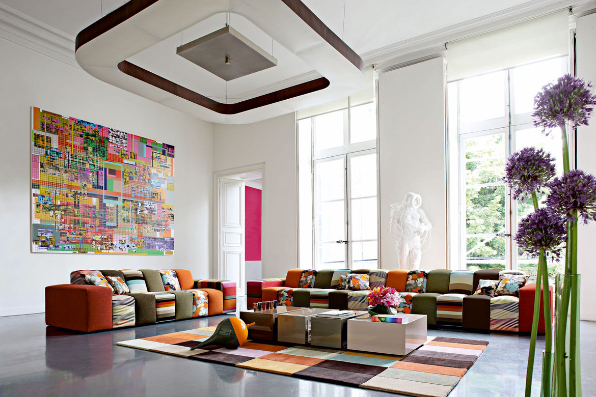 Rythme Sofa, fabrics by Missoni Home, 2009.
