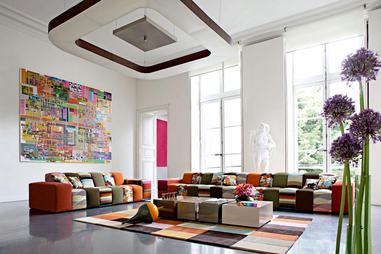 Rythme Sofa, fabrics by Missoni Home, 2009.