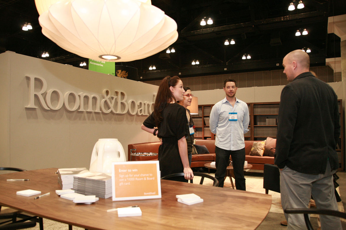 """At <a href=""""http://www.roomandboard.com/rnb/"""">Room & Board</a>, attendees could enter to win $1,000 worth of merchandise."""