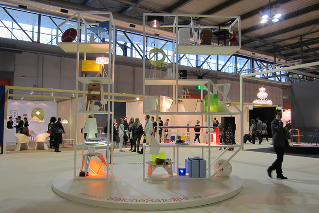 Opening the exhibition hall is a display holding fifteen items from years past that have made it into production by major manufacturers. This year's theme celebrated the union between design and technology.