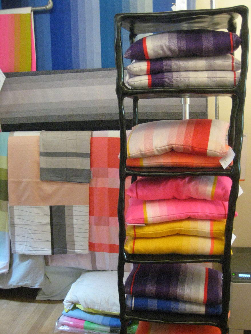 "Absolutely beautiful pillows and blankets from local design team <a href=""http://www.scholtenbaijings.com/"">Scholten & Baijings</a> at the Frozen Fountain."