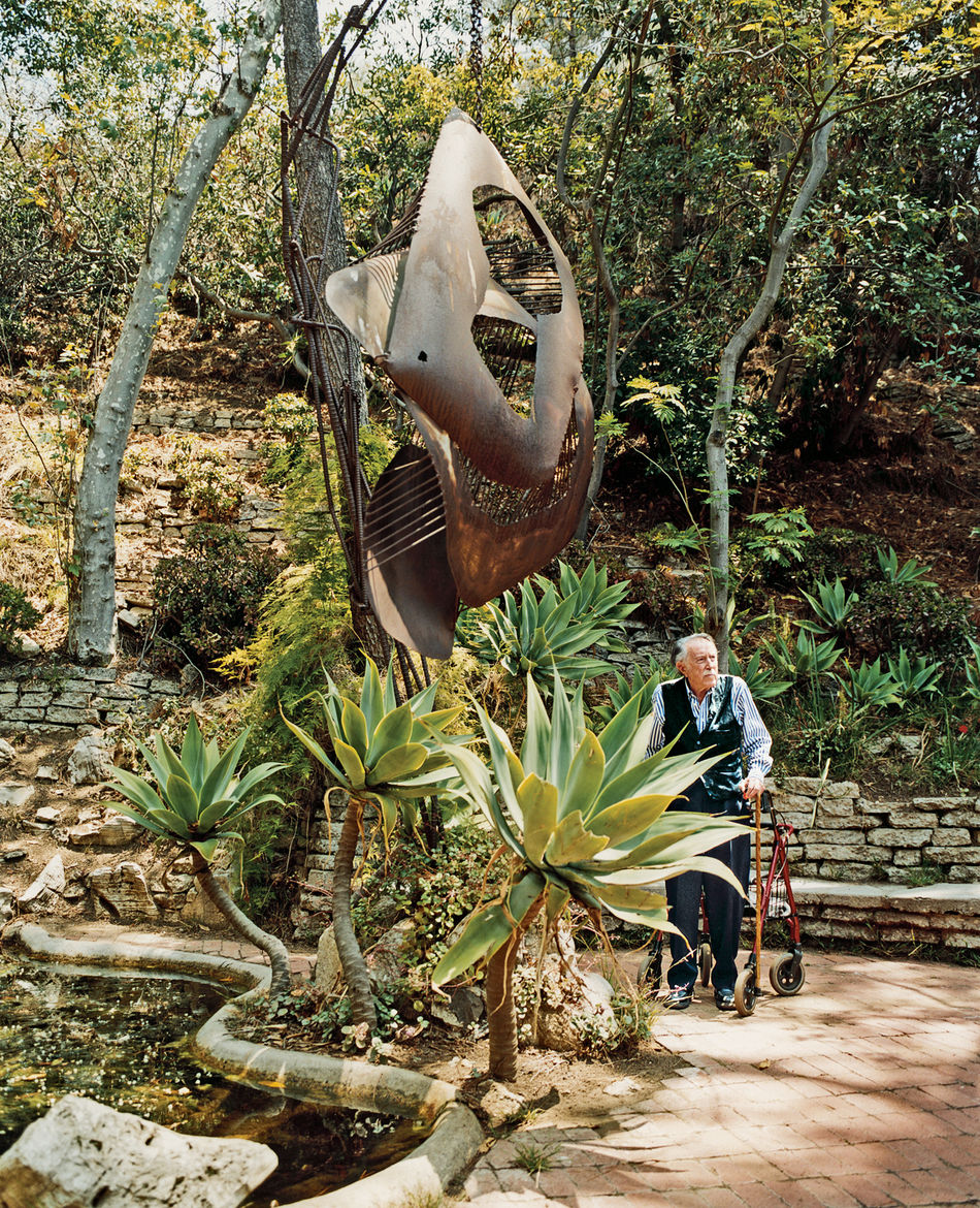 """""""No landscape architect would do this mishmash,"""" says Shulman of his beloved garden. """"Behind my land is 53 acres, which now belong to the Santa Monica Conservancy, so it's protected,"""" he says. """"My daughter's son will probably live here when he grows up—he"""
