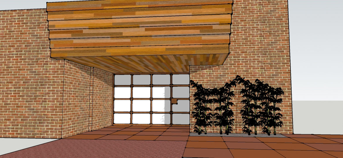 Domoor Carport<br /><br /> Submitted by: Name not provided<br /><br /> Designer's Description: <br /><br />The challenge was to take a cluttered entry carport from an original Frank Lloyd Wright home and make it more welcoming. We wanted a partition that