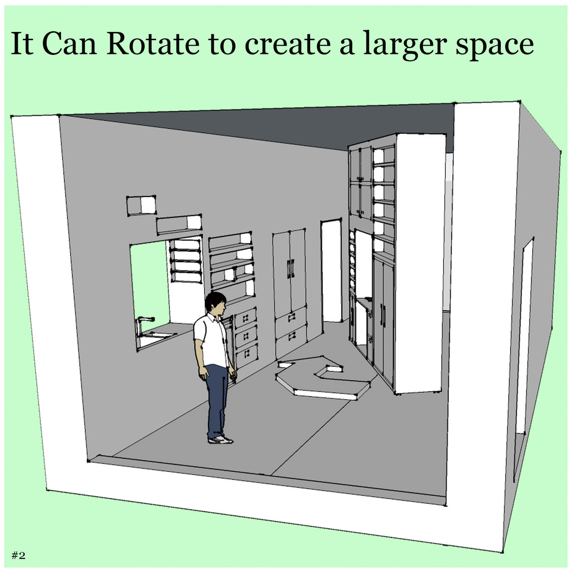 Storage Divider<br /><br /> Submitted by: Name not provided<br /><br /> Designer's Description: <br /><br />While conventional room dividers can be boring and very restrictive only allowing for one alternative the Storage Divider allows for the freedom of