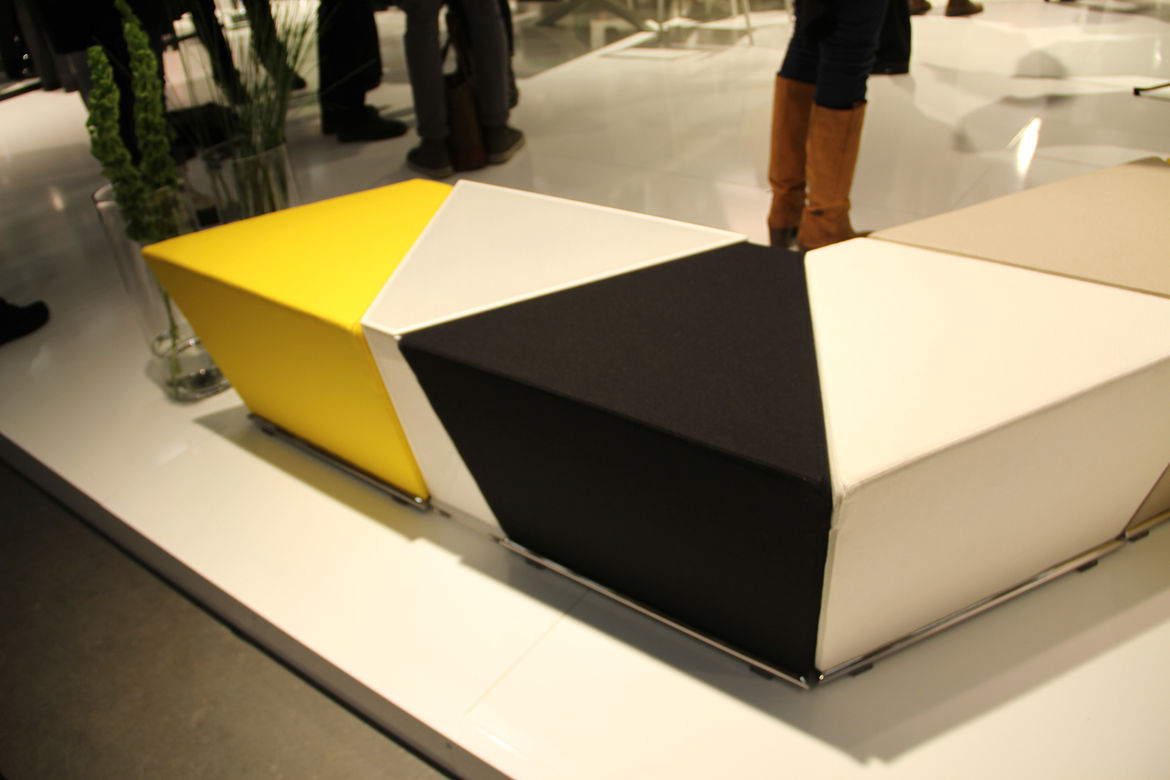 """The Area Table and Footstool, by Anya Sebton, was a big hit for <a href=""""http://www.lammhults.se/"""">Lammhults</a> in 2010. It consists of five modular units, each with magnets embedded within to make it easy to regroup. And look! The end piece happens to b"""