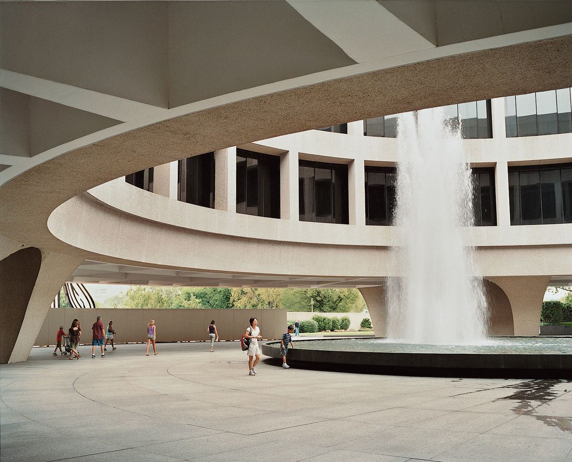 In the late 1930s Congress mandated an art museum for the National Mall, initially getting behind a design by Eliel Saarinen. Gordon Bunshaft would come to design that museum, the Hirshhorn Museum and Sculpture Garden.