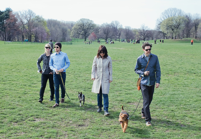 Jeanette and Mike Abbink's 1925 apartment building is a block from Brooklyn's Prospect Park, where their Welsh terrier, Stig, and his Boston terrier pal, Meow, are regulars.