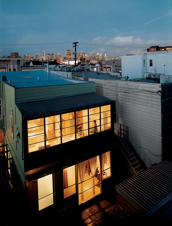 """If there were a theme song for architect Christi Azevedo's rehabilitation of the crumbling 1885 abode she purchased in San Francisco's Mission District, it would have to be """"Love the One You're With."""" Instead of an extreme makeover, the self-described mod"""
