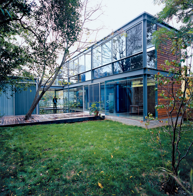 """The Bercy residence seems to close the ever contentious gap between art and architecture. Says designer Thomas Bercy: """"We tried to get the house to an artistic level, almost as if it were an installation as much as it was a house."""""""
