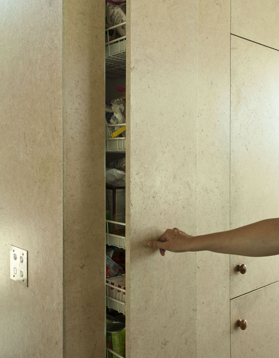Kitchen storage idea featuring a MSB pull out shelf