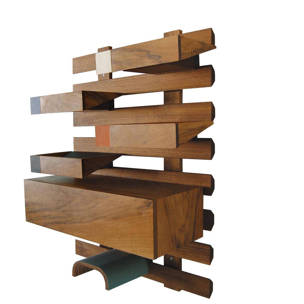 SaraS fabricated wooden wall shelves Jacob Granat