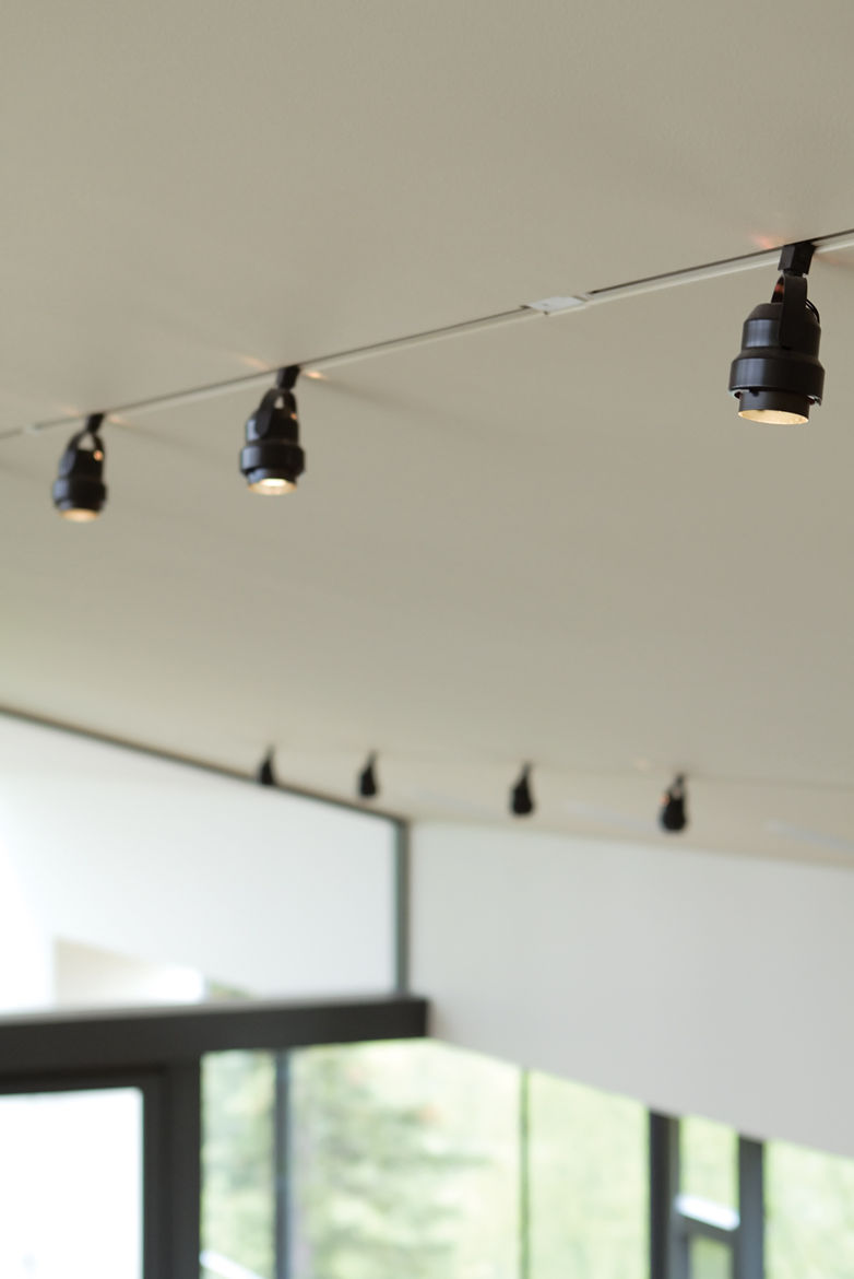 Sophisticated Juno track lights in the Leiniche Navitsky residence.