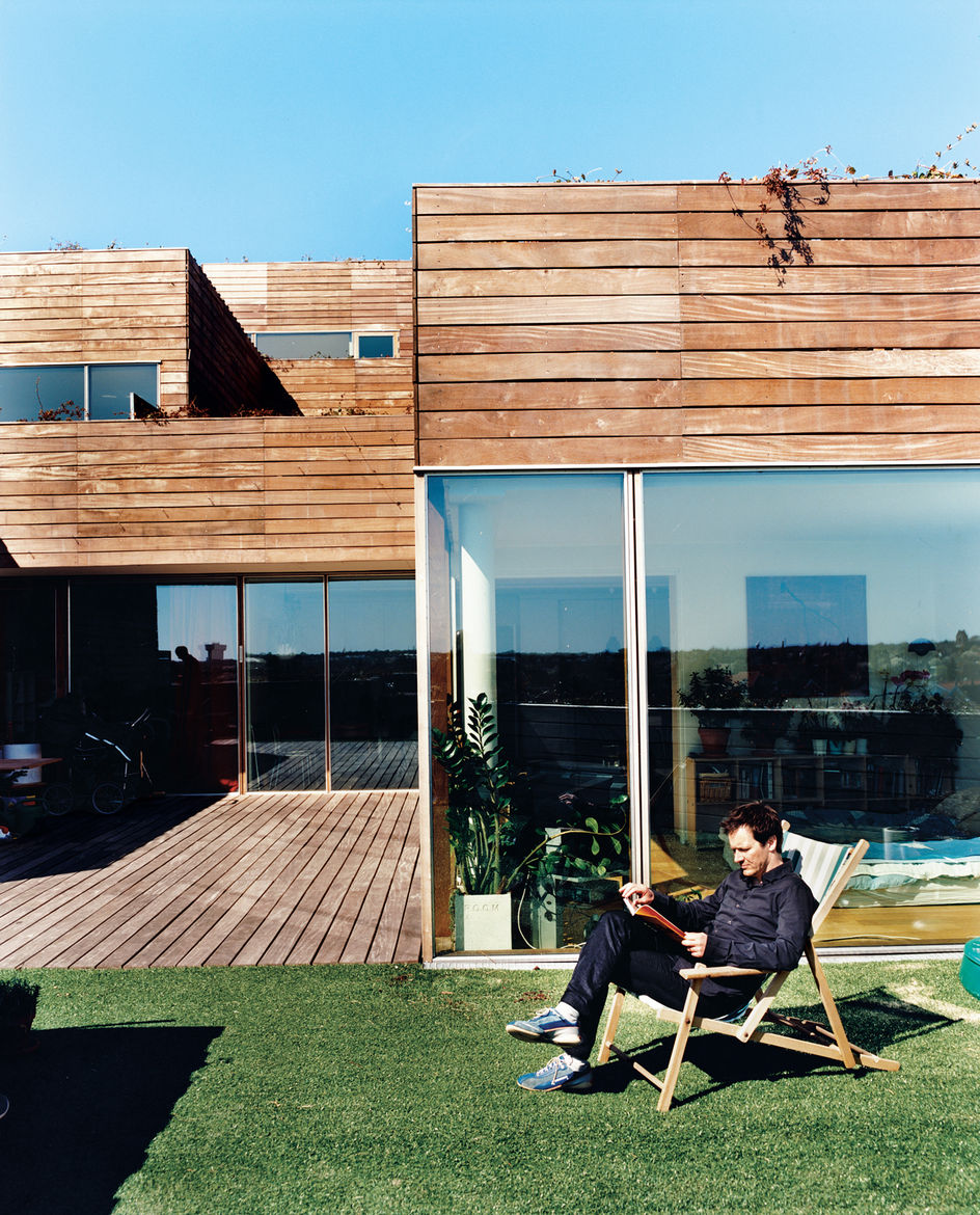 Airy, open, light-filled apartments with walls of glass look out onto 970-square-foot terraces edged in artificial turf. Unlike the too-public, near-exhibitionist qualities of the experimental VM housing next door, Mountain Dwellings all have private terr