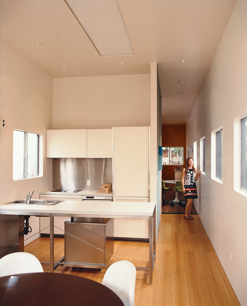 The nonprefab place where architect Jennifer Siegal lays her head is a perpetual work in progress.