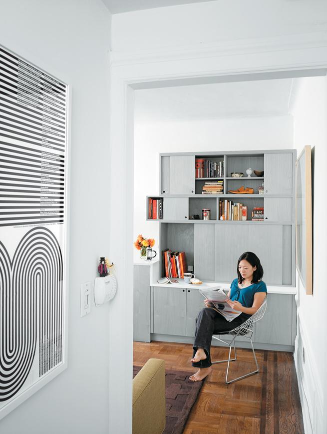 sliding kitchen interior portrait living room poster Michael Bierut