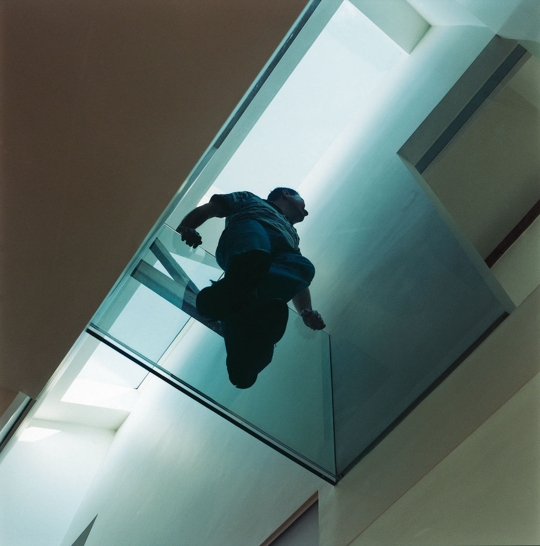 The glass walkway.