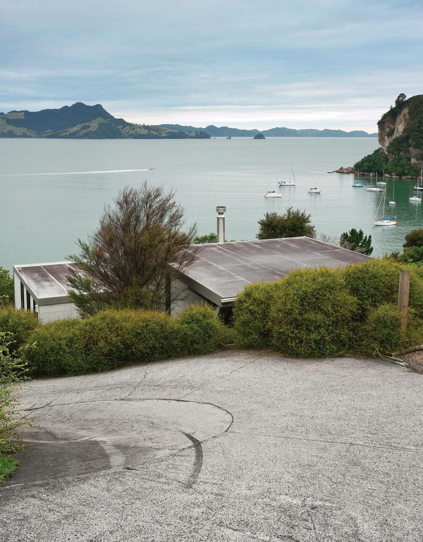 View showing modern roof and Maramaratotara Bay