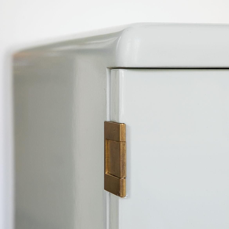 Custom Bisazza Bagno cabinet with brass hardware