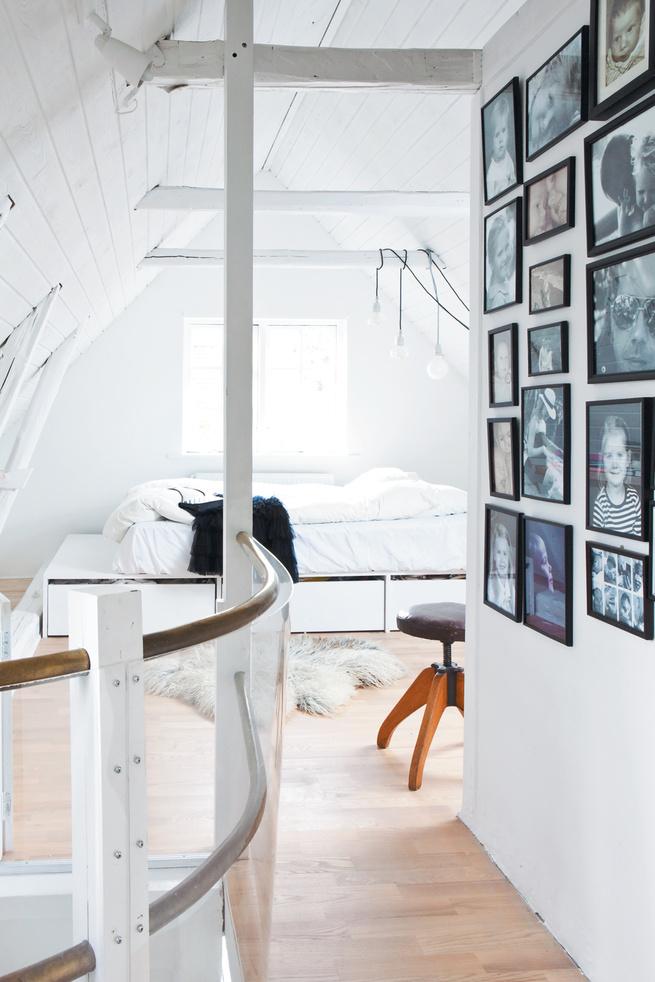 Minimalist bedroom with platform bed