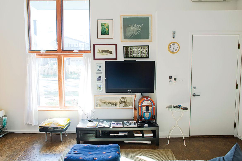 Neatly organized media living room