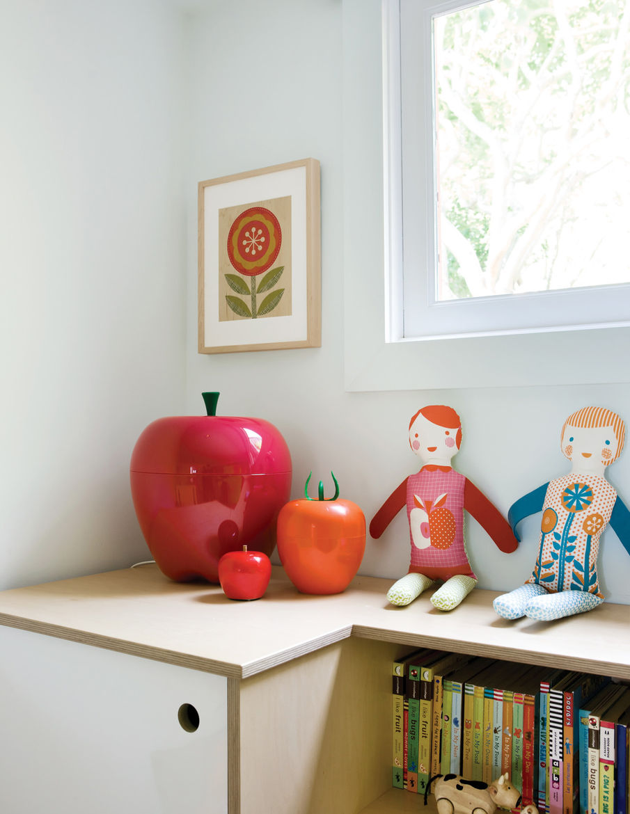 Modern children's room with customized shelving