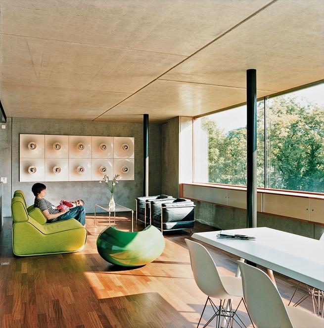 Concrete prefab house in Zurich