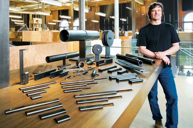 Architect Tom Kundig in his studio